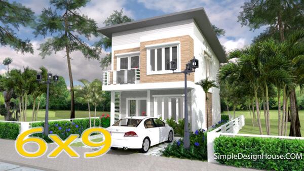 Cool House Plans 6x9 Meter 20x30 Feet 3 Beds