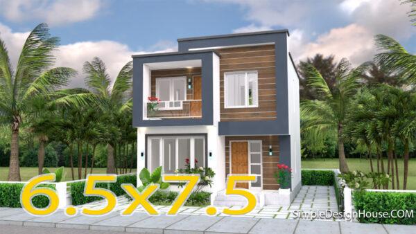 House Designs Plans 6.5x7.5m 22x25f 2 beds
