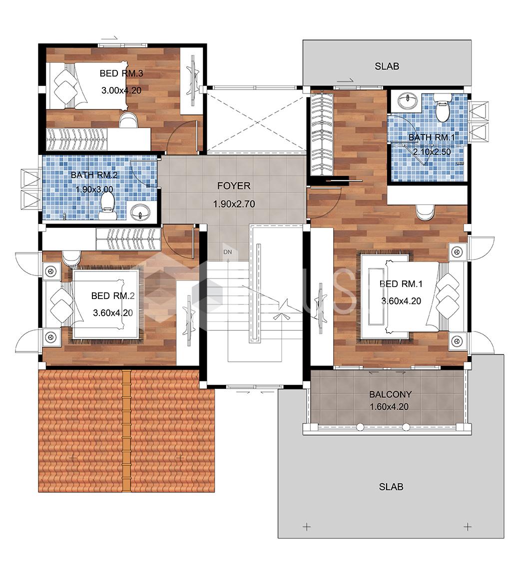 House Floor Plans 15x19 Meter 49x62 Feet 4 Bedrooms first floor