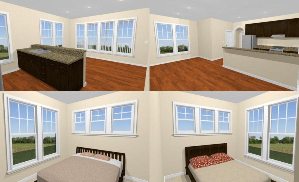 20x32 Tiny House 2 Bedroom 1 Bath 640 sq ft PDF Floor Plan interior