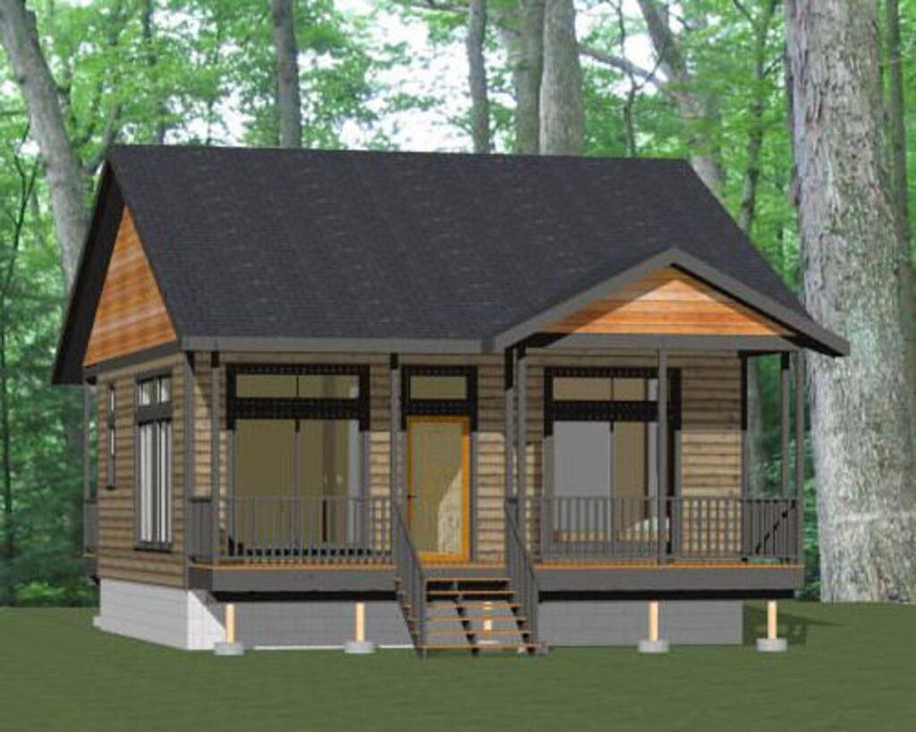 26x26 House Plans 1 Bedroom 676 sq ft PDF Floor Plan