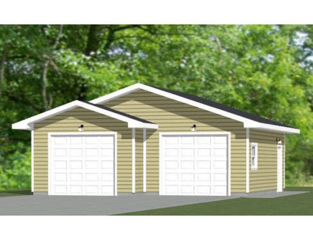 28x28 2 Car Garage 728 sq ft PDF Floor Plan