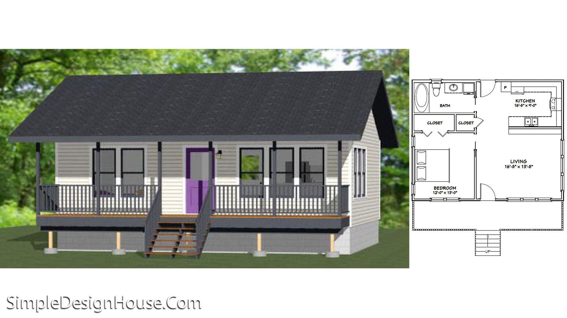 30×24 House Plan 1 Bed 720 sq ft  PDF Floor Plan