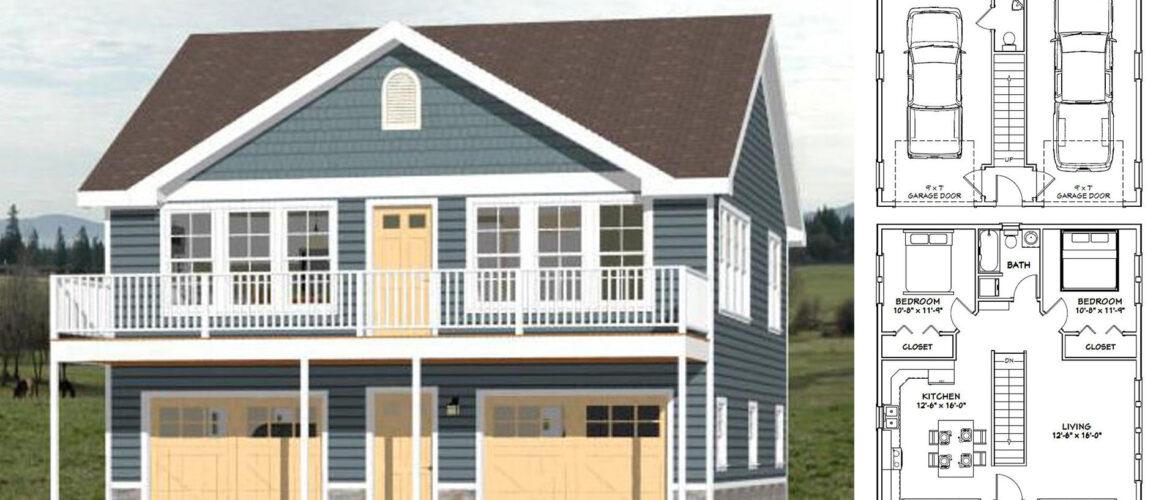 30×32 House Plan 2 Beds 961 sq ft PDF Floor Plan