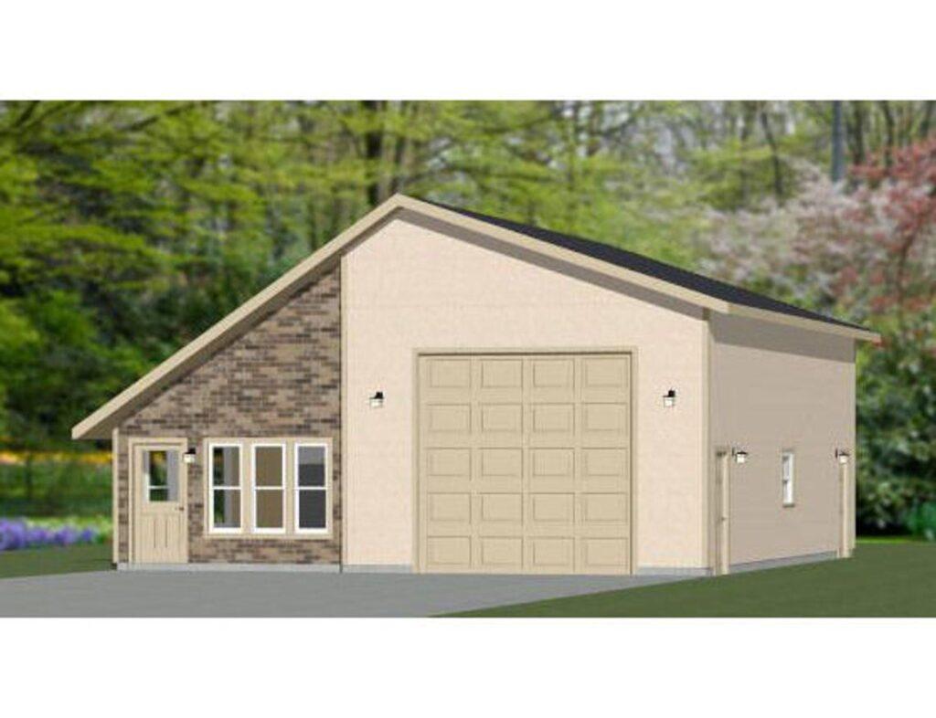 34x42 1 Garage 1 Bedroom 1,400 sq ft PDF Floor Plan