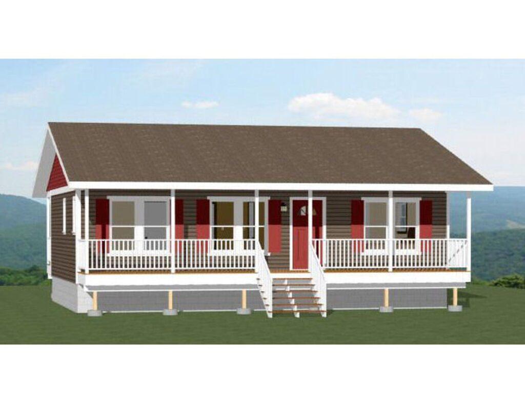 36x24 House 2 Bedroom 864 sq ft PDF Floor Plan