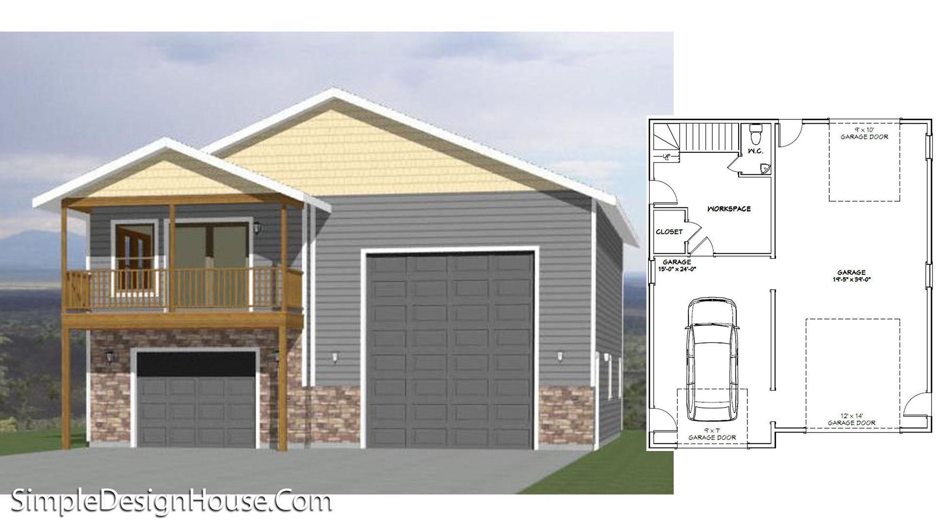 36×42 House Plans 1 Bed 853 sq ft PDF Floor Plan