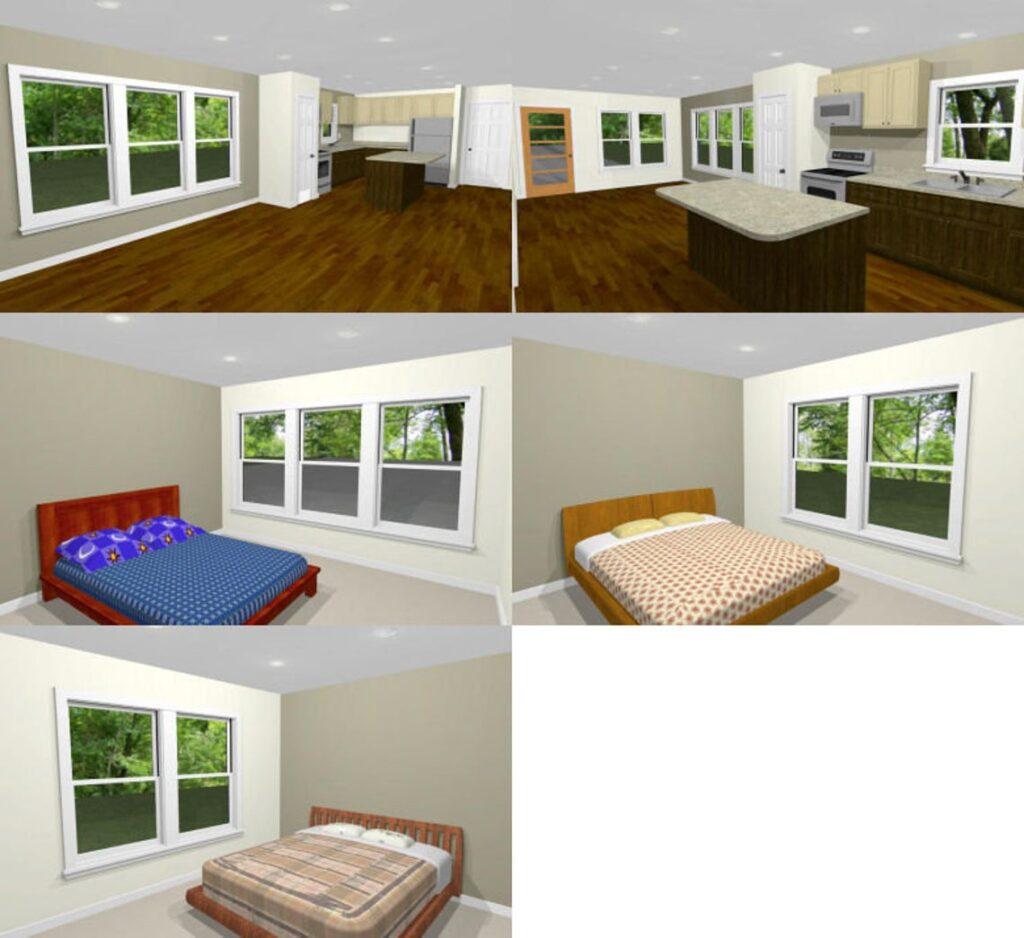 46x48 House Plans 3 Bedrooms 2 Bath 1,157 sq ft PDF Floor Plan in