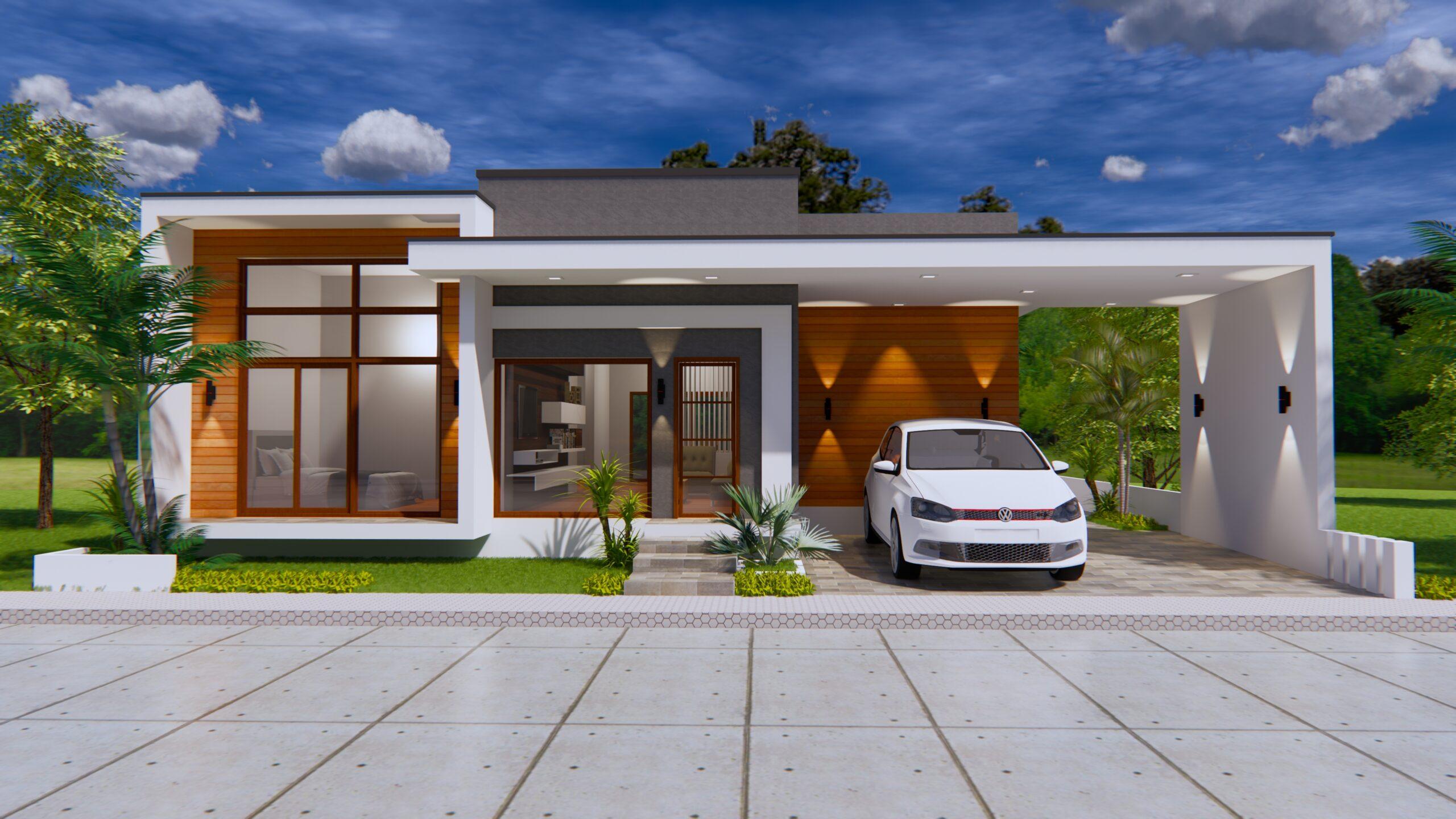 Modern House Plans 15x16