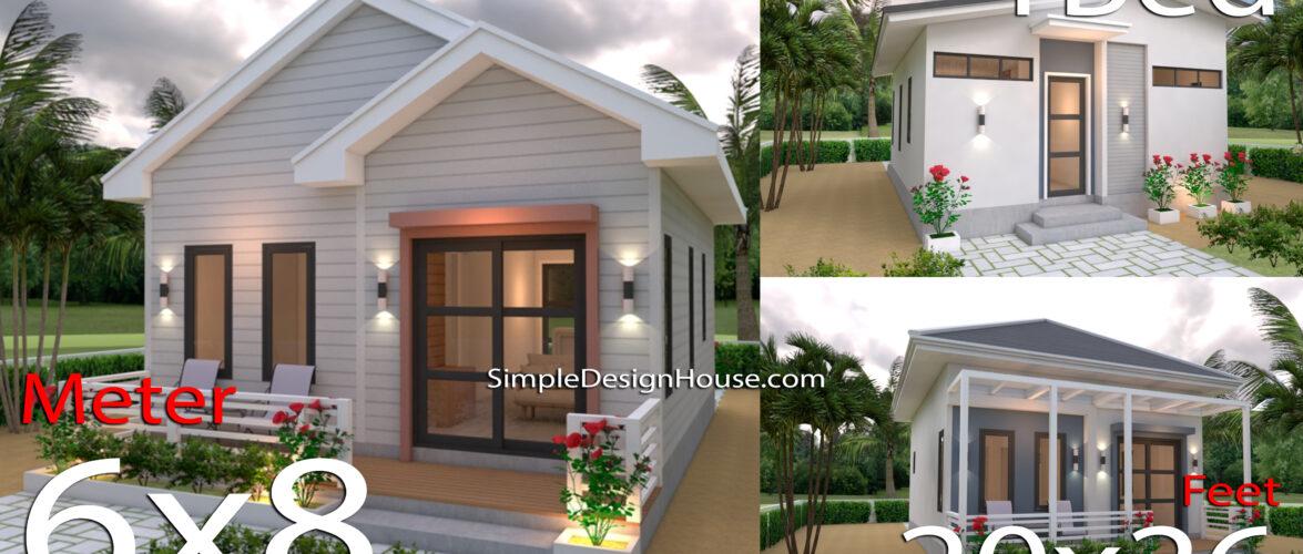 5 Beautiful Studio House 6×8 with Floor Plans