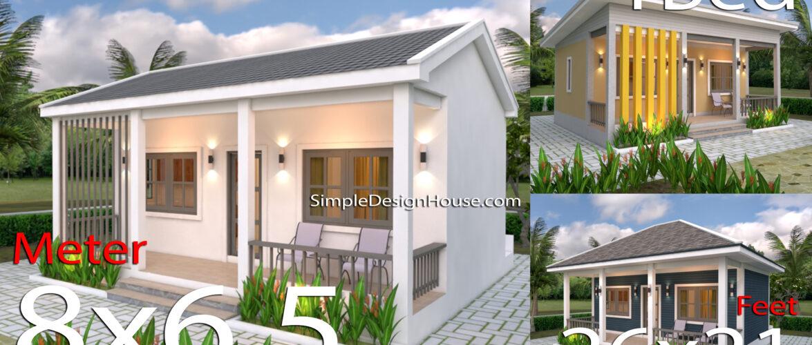 3 Simple Design Plans 6.5x8M 26x21F