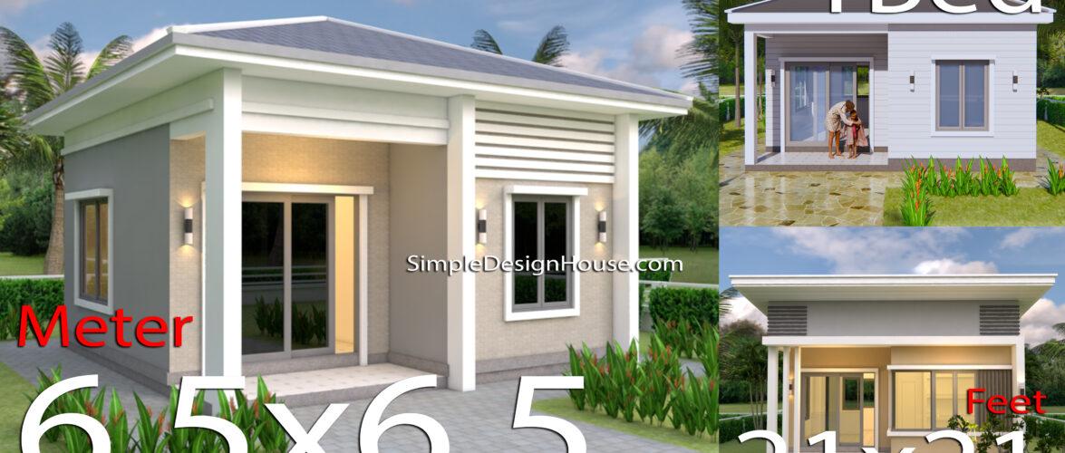 3 Simple House Plans 21×21 Feet 6.5×6.5m
