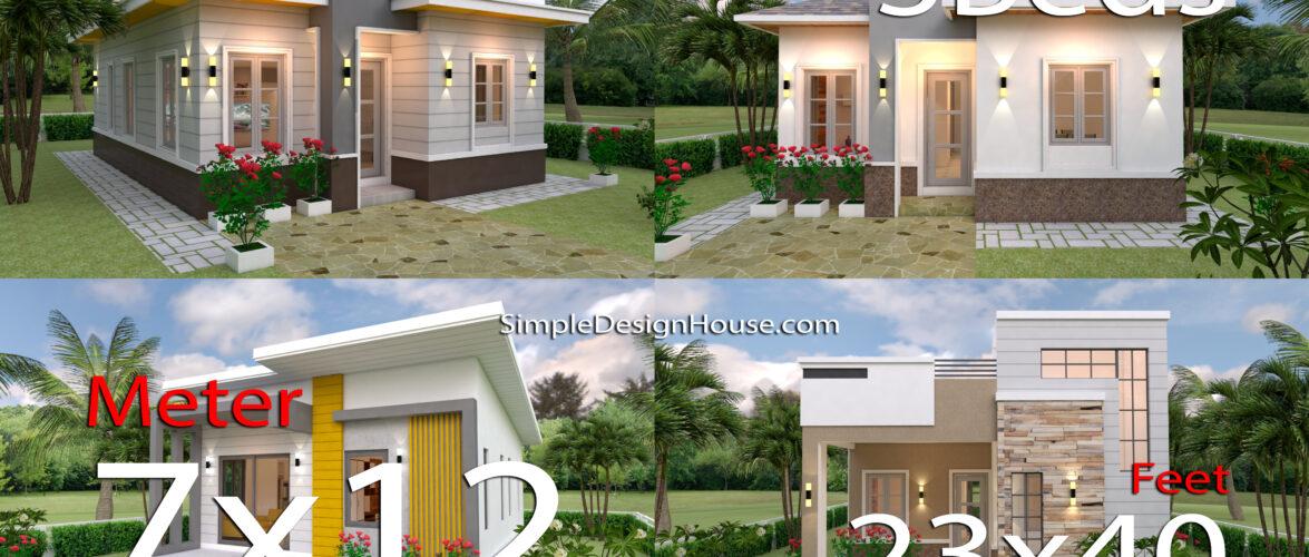 4 Best 3 Bedrooms House with floor plan 7m