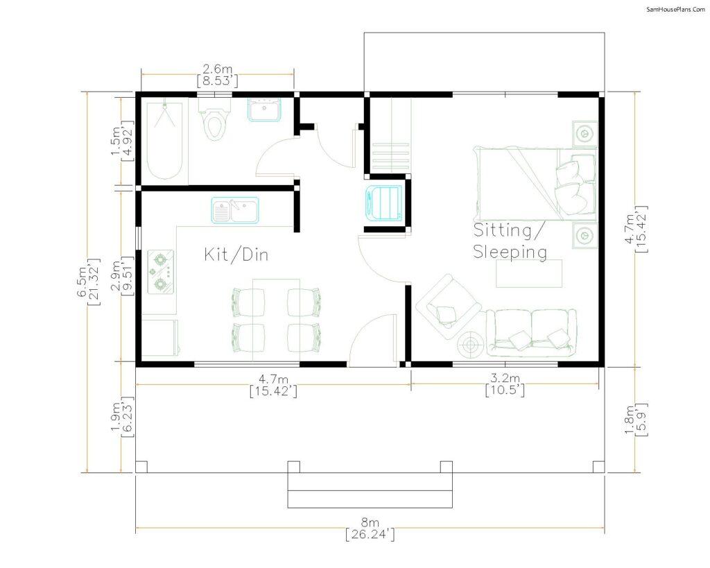3 Simple Design Plans 6.5x8M 26x21F-layout-floor-plan