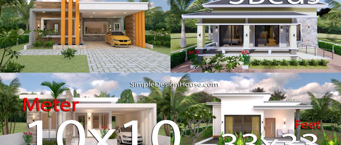10 Modern House Design 33×33 feet with Floor Plan