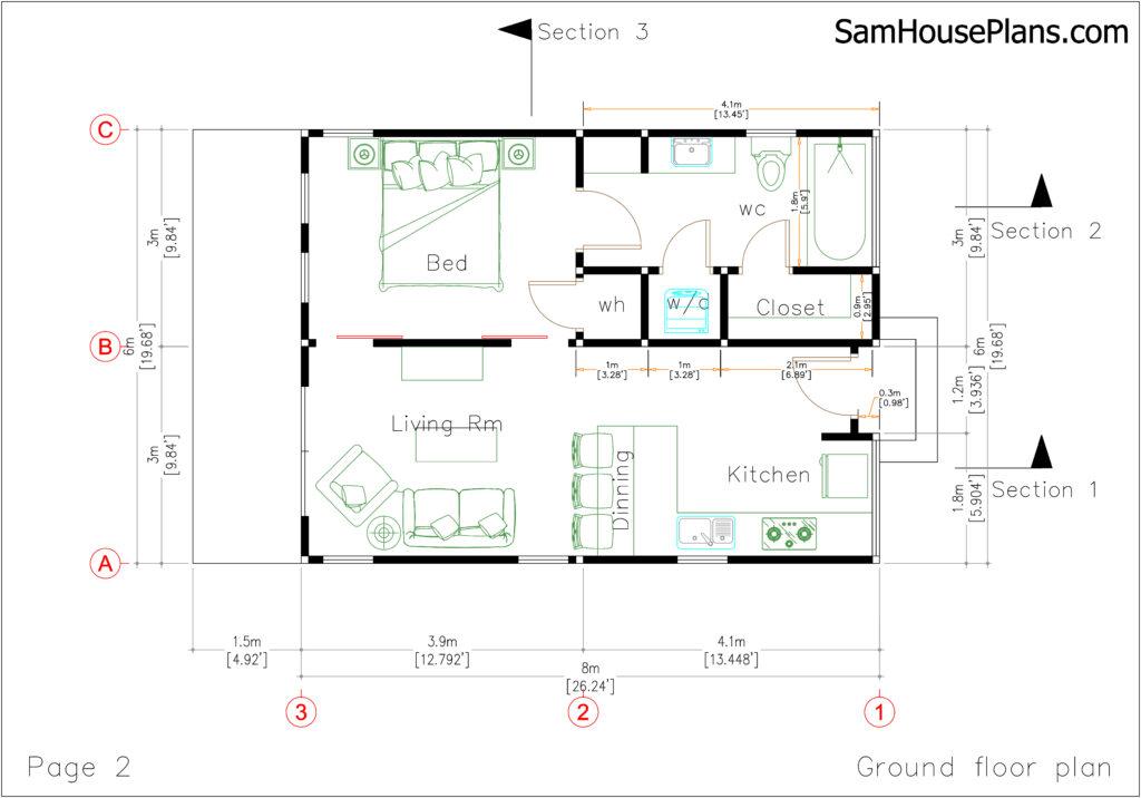 3 Beautiful Studio House 6x8 with Floor Plans